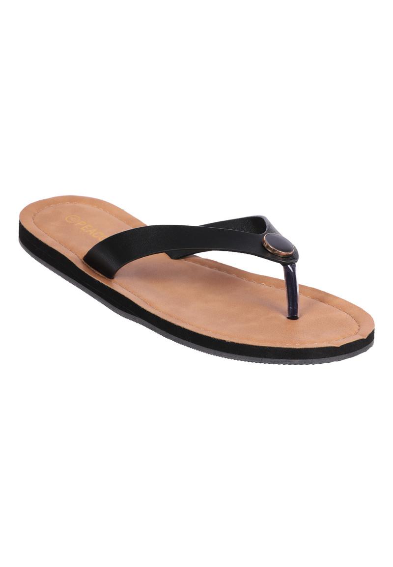 Womens Black Toe Post Sandals   Peacocks