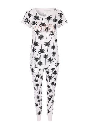Girls Fleece Pyjama Age 7-8 pink and white leopard print heart love