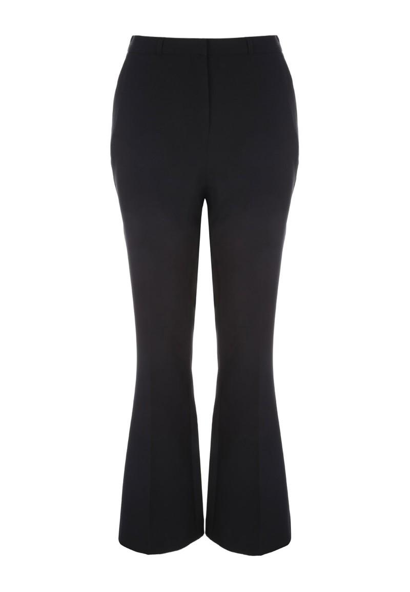 Ladies Smart Black Slim Boot Cut Work Pants Bootcut Stretch Trousers